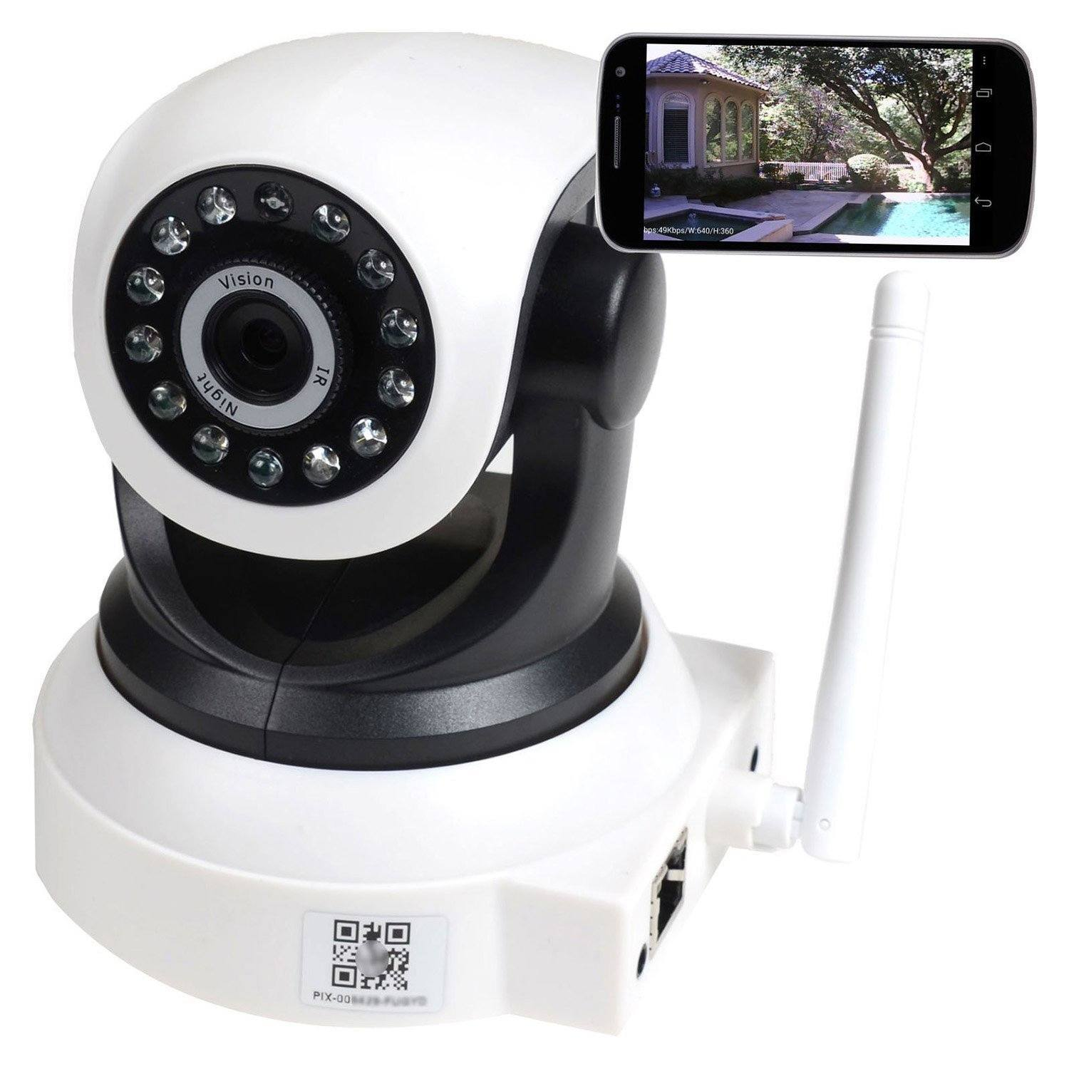 powerlead ip security camera wifi connected crib. Black Bedroom Furniture Sets. Home Design Ideas