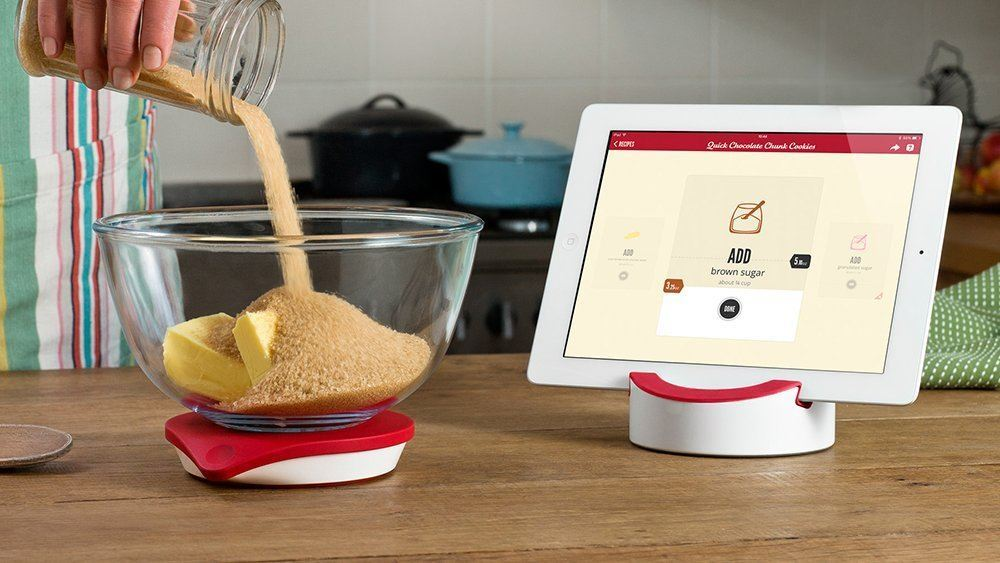 drop smart kitchen scale for ipad connected crib