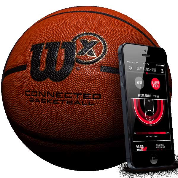 Wilson X Smart Basketball W Bluetooth Connected Crib