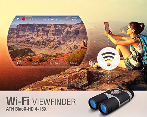 Atn Binox Smart Binoculars With Wifi Amp Video Connected Crib