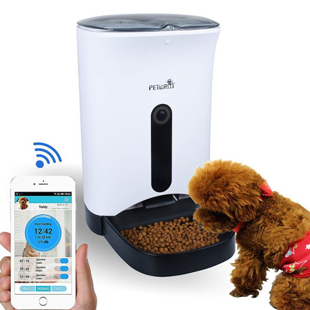 Petwant Smart Automatic Pet Feeder Connected Crib