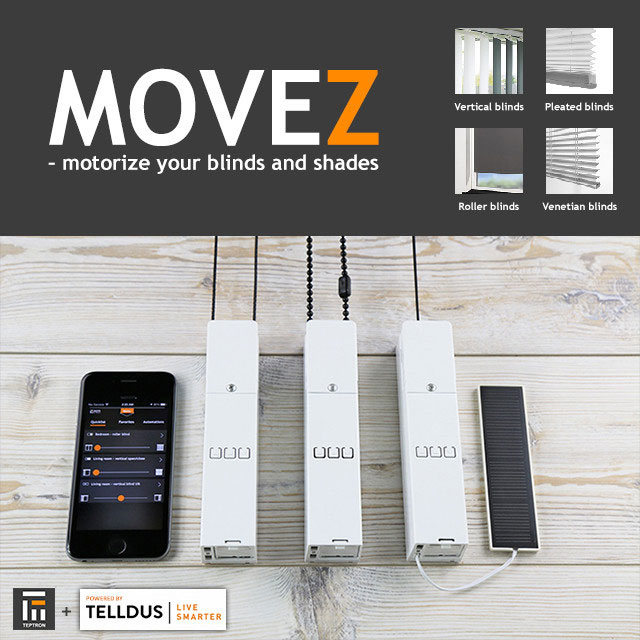 Movez motorizes your blinds z wave connected crib for Z wave motorized blinds