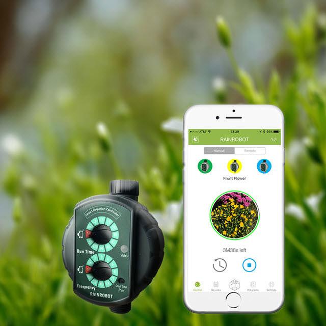 Rainrobot Smartphone Controlled Irrigation Controller