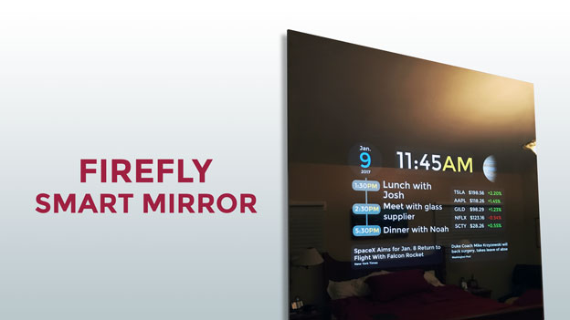 Firefly Smart Mirror With Alexa Powered By Your Tablet