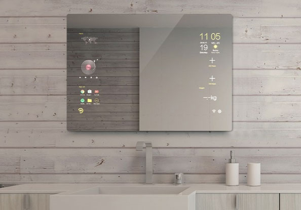 Touchscreen Android Smart Mirror For Your Bathroom