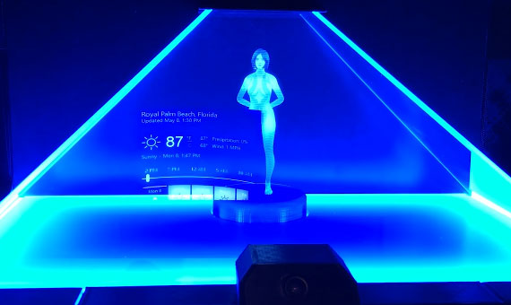 Holographic Cortana Smart Home Assistant Connected Crib