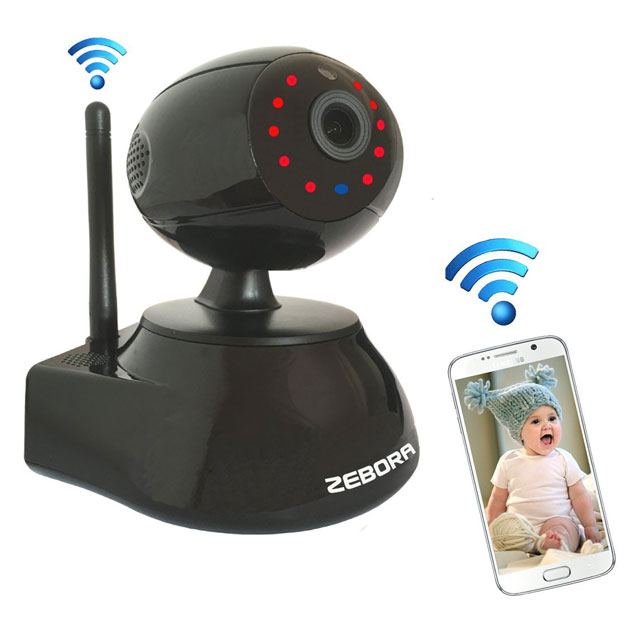 zebora baby monitor with wifi connected crib. Black Bedroom Furniture Sets. Home Design Ideas