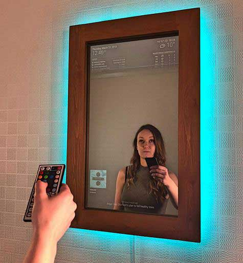 Smart 27 Quot Magic Mirror For Your Home Connected Crib