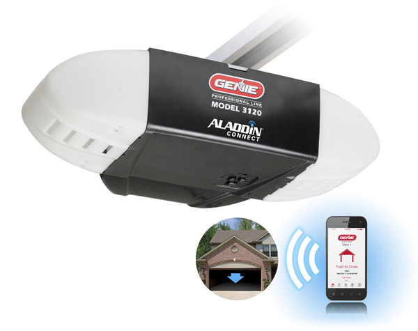 Genie Garage Door Opener With Integrated Aladdin Connect Connected