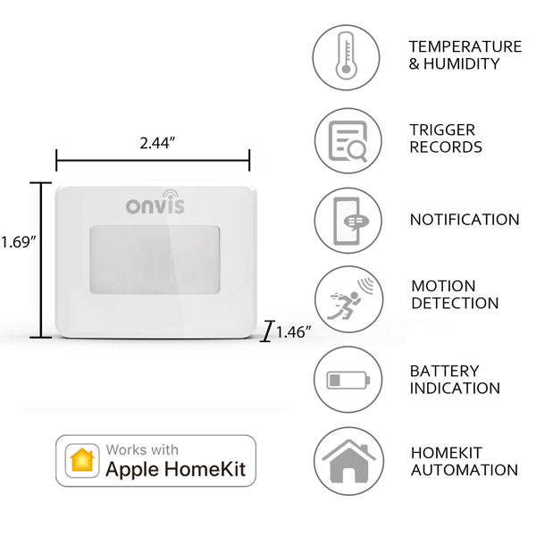Onvis Smart Motion Sensor Works With Homekit Connected Crib