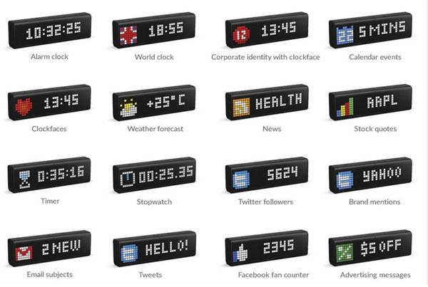 LaMetric Smart WiFi Alarm Clock + Internet Metrics - Connected Crib