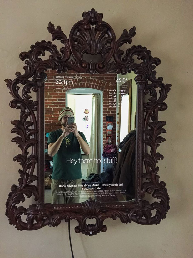 Diy Ornate Magic Mirror With Smart Features Connected Crib