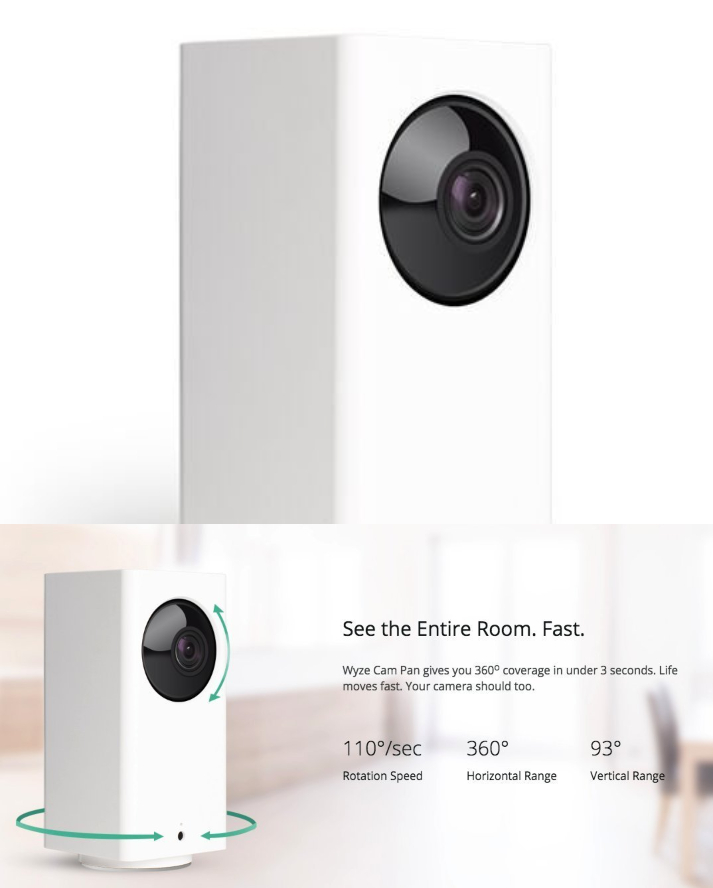 Wyze Cam Pan PTZ Indoor WiFi Camera - Connected Crib