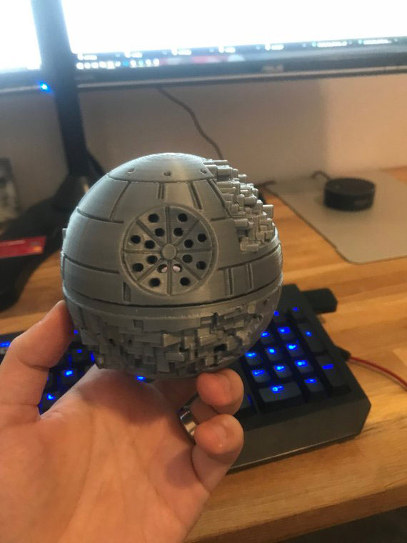 Under Construction Death Star Echo Dot Mount Connected Crib