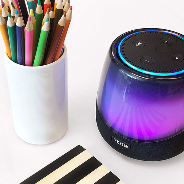 ihome iav5 color changing alexa speaker connected crib. Black Bedroom Furniture Sets. Home Design Ideas