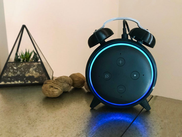 3d Printed Alarm Clock Stand For Echo Dot Gen 3