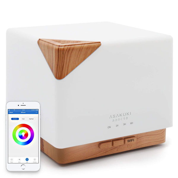 Asakuki Smart Wifi Essential Oil Diffuser With Alexa